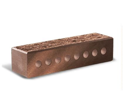 (Бордо) Кирпич узкий колотый пустотелый с фаской 60