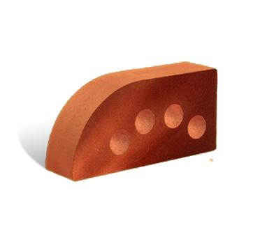 (Красный) Кирпич Литос фасонный полукруг