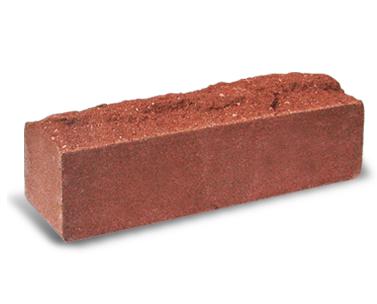 (Красный) Узкий кирпич «Скала» полнотелый