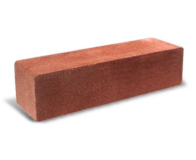 (Красный) Узкий колотый гладкий полнотелый