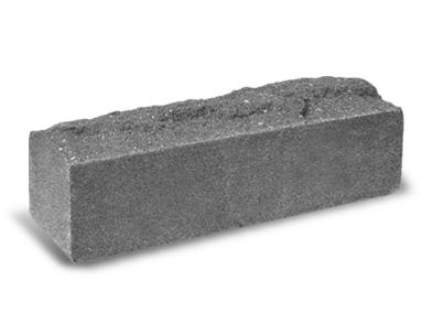 (Серый) Узкий кирпич «Скала» полнотелый